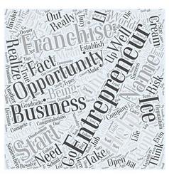 Entrepreneur franchise opportunity Word Cloud vector