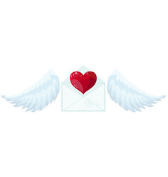 envelope with wings like cupid sending love and vector image