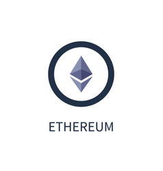 Ethereum cryptocurrency icon vector
