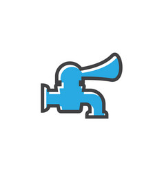 faucet icon design template isolated vector image