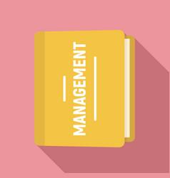 folder management icon flat style vector image
