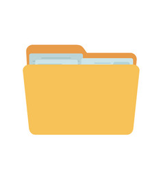 full folder yellow container for documents vector image