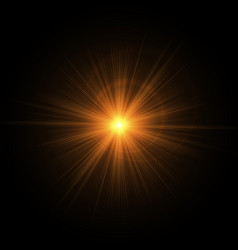 Golden rays of the sun vector