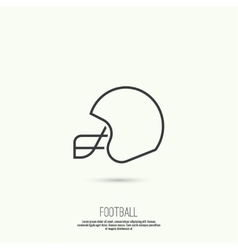 Helmet American Football vector