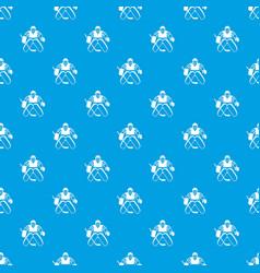 Hockey goalkeeper pattern seamless blue vector