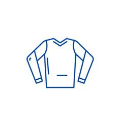 hoodie line icon concept hoodie flat vector image