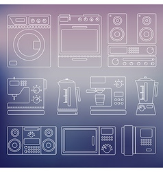 Icons home appliances vector