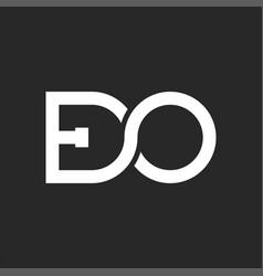 initials letters eo logo monogram in infinity vector image