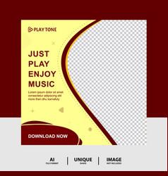 Just enjoy music social media post banner vector
