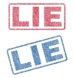 Lie textile stamps vector