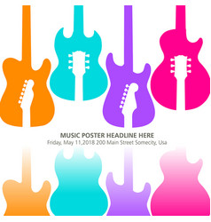Live music poster template for concert vector