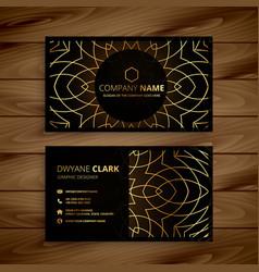 Luxury golden business card design vector