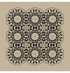 Mandala Print Retro Ornate Mandala Wallpaper for vector image