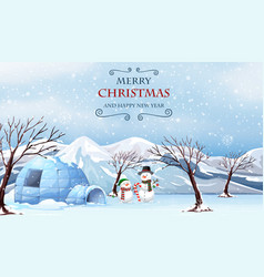 merry christmas outdoor template vector image