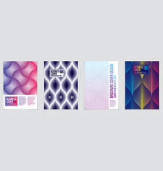 minimal covers design set geometric patterns vector image