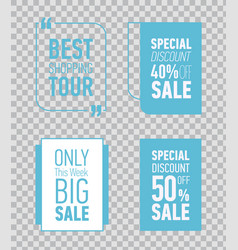 Modern sale posters only this week big sale vector