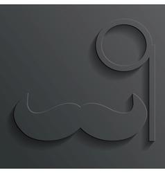 monocle mustache vector image