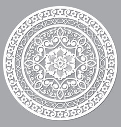 Moroccan openwork mandala design vector