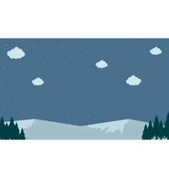 Mountain snow landscape backgrounds vector