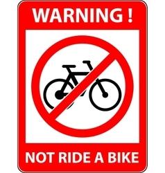 No bicycle sign Flat design vector