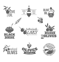 Olives label set vector