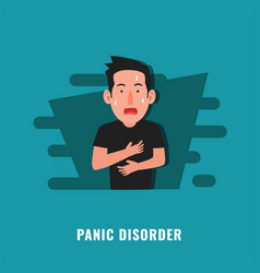 Panic disorder psychological disorder mental vector