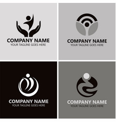 people success logos vector image