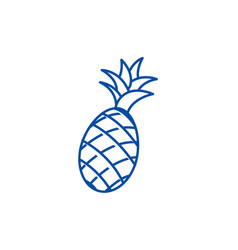 pineapple line icon concept pineapple flat vector image