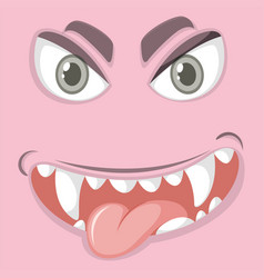 Playful monster facial expression vector