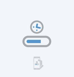 Progression bar icon vector