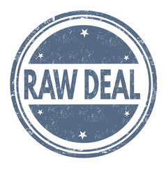 raw deal grunge rubber stamp vector image