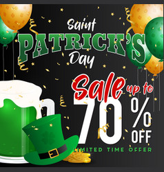 saint patricks day celebration and sale promotion vector image