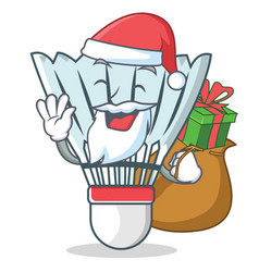 Santa shuttlecock character cartoon vector