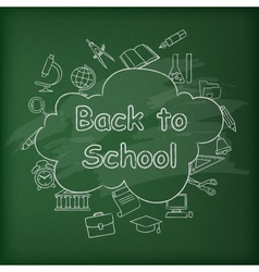School blackboard Green vector image