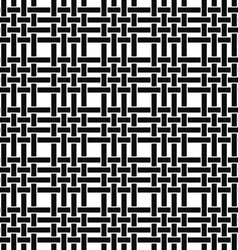 Seamless monochrome line pattern vector