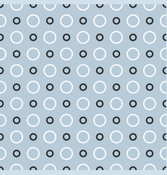 Seamless pattern with black and white dots vector