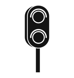 Semaphore trafficlight icon simple style vector
