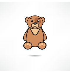 Smiling bear vector