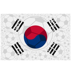 South Korea soccer balls vector