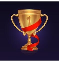 Sport winner gold trophy championship cup vector