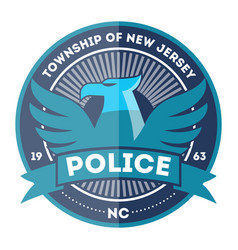 state police symbol icon vector image
