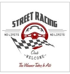 Street Racing club badge and design elements vector