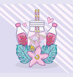 summer juice cartoons vector image