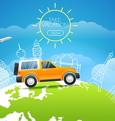 Take vakation around the world Adventure concept vector image