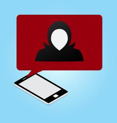 technology cyber security laptop hacker speech vector image