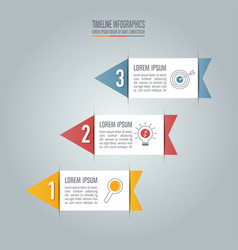 Timeline infographic business concept with 3 vector