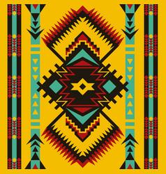 Tribal ethnic seamless pattern aztec art vector