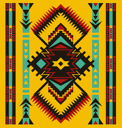 tribal ethnic seamless pattern aztec tribal art vector image