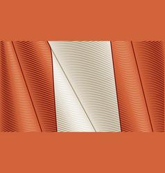 vintage flag peru close-up background vector image