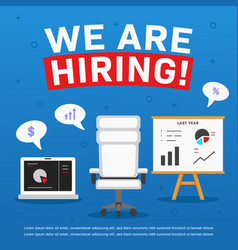 We are hiring poster ads accountant manager or vector